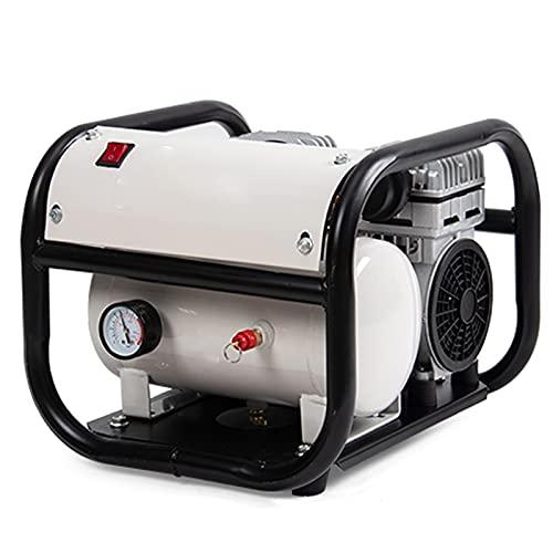 Compresor de Aire sin Aceite, Pintura en Aerosol portátil para decoración del hogar, Bomba de inflado de neumáticos, compresor silencioso de 6/9/30 L (48 dB), compresor de 800 W