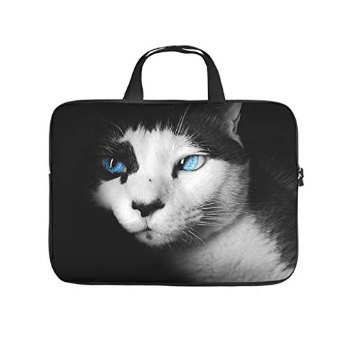 Normal Blue Eye Cat Laptop Bags Patterned Waterproof - Laptop Protection Suitable for Business