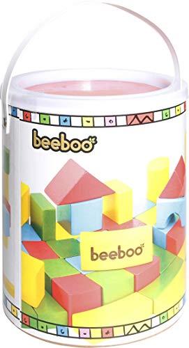VEDES Großhandel GmbH - Ware BEEBOO Cubes en Bois, Multicolore, en Tambour 100 pièces