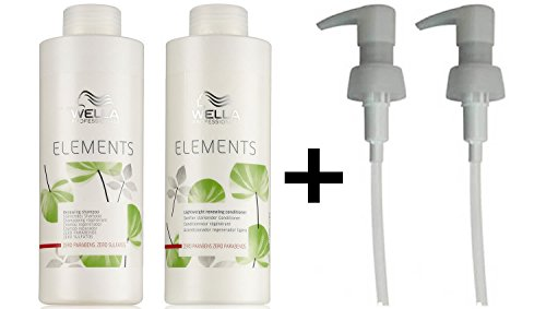Wella Elements Renewing Shampoo + Lightweight Renewing Conditioner 1000ml + 2 PUMPS