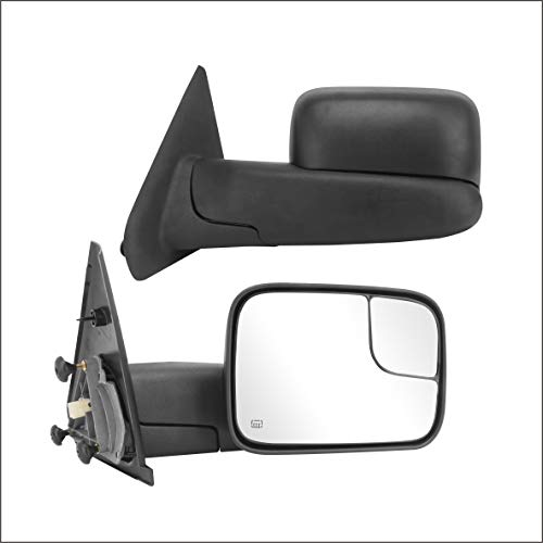 W//HEATED,W//SMOKE SIGNAL,BLACK Perfit Zone Towing Mirrors Replacement Fit for 2002-2007 SILVEADO//GMC SIERRA PAIR SET