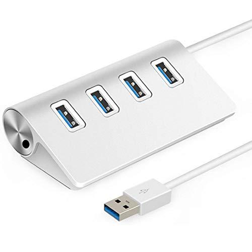 4-Port USB 3.0 Ultra Slim Data Hub, High-speed Expansion Multi USB Hub Splitter for Macbook, Mac Pro/mini, iMac, Surface Pro, XPS, Notebook PC, USB Flash Drives, Mobile HDD, and More