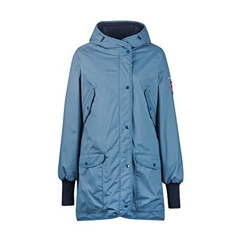 Finside W Suomukka Blau, Damen Regenmantel, Größe 36 - Farbe Blue Mirage - Navy