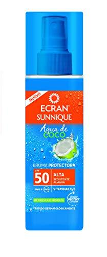 Ecran Sunnique - Bruma Protectora, con Agua de Coco, SPF50-200 ml