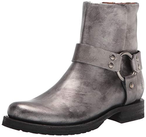 Frye Damen Veronica Harness Short Ankle Boot, silber, 39 EU