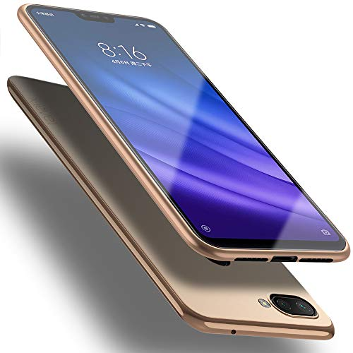 X-level Funda para Xiaomi Mi 8 Lite, Carcasa para Xiaomi Mi 8 Lite Suave TPU Gel Silicona Ultra Fina Anti-Arañazos y Protección a Bordes Funda Phone Case para Xiaomi Mi 8 Lite-Oro