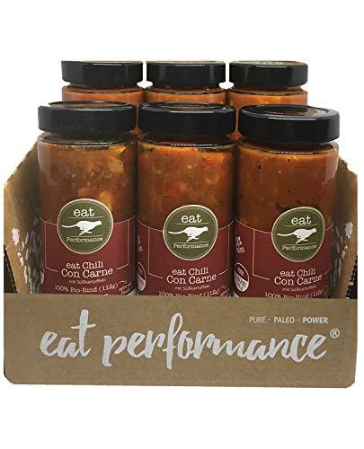 eat Performance® Chili Con Carne Suppe (6x 350ml) - Bio, Paleo, Frisch Gekocht Aus 100% Natürlichen Zutaten