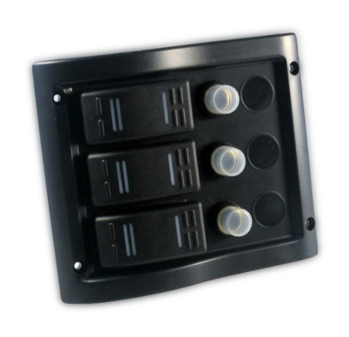 Schaltpaneel mit 3 Schaltern schwarz