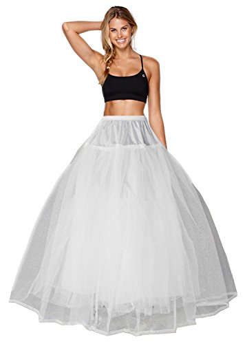 Reifrock Petticoat Hoopless Brautkleid Unterrock Petticoat Brautkleid Reifrock A line Petticoat Brautkleid Hochzeitskleid Reifrock Krinoline Petticoat Unterrock Skirt Krinoline (38, Weiß)