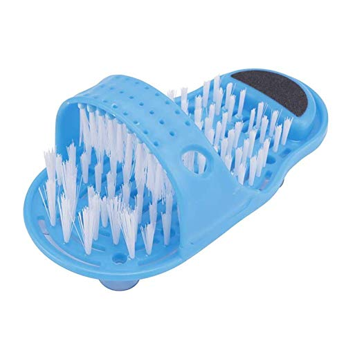 Bagno Foot Cleaner, NALCY 1 x Spazzola Detergente per Piedi, Spazzola Lavapiedi, Pantofola Massaggiatore per Piedi da Bagno, Spazzola Con Setole per La Pulizia del Piede