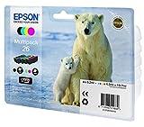 Epson 26 Pack de 4 Cartouches d'encre d'origine Couleur Assortis