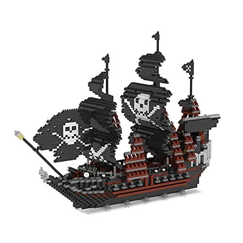 icuanuty Arquitectónico Juego De Bloques De Construcción De Modelo De Barco Pirata De Perlas Negras Pirata del Caribe Nano Micro Bloques De Diamantes Juguetes De Bricolaje No Compatibles con Lego