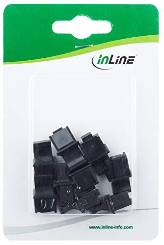 InLine 59942C 10er Blister Staubschutz, für RJ45 Buchse, schwarz