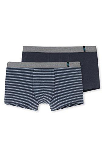 Schiesser Herren Boxershorts 95/5 Shorts, 2er Pack, Mehrfarbig (Graublau 209), XL (Herstellergröße: 7)