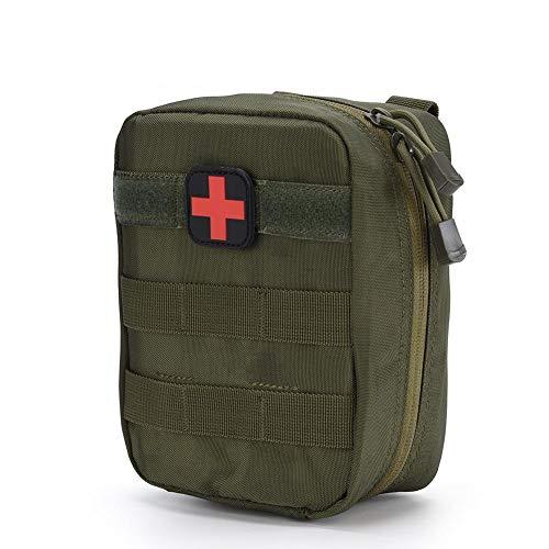 Erste Hilfe Tasche, Medizinischer Notfallrucksack für Zuhause, Freien, Auto, Camping, Arbeitsplatz, Wandern und Überleben(Armeegrün)