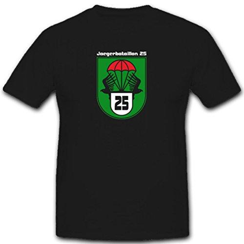 JgBtl25 Jägerbataillon 25 Bundesheer Österreich Armee Einheit Bundeswehr Militär Wappen Abzeichen Emblem- T Shirt #3687, Farbe:Schwarz, Größe:Herren M