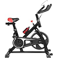 Morecon Stationary Indoor Exercise Bike with Stepless Speed Regulation