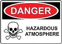 注意サイン-危険な危険な雰囲気。 通行の危険性屋外防水および防錆金属錫サイン