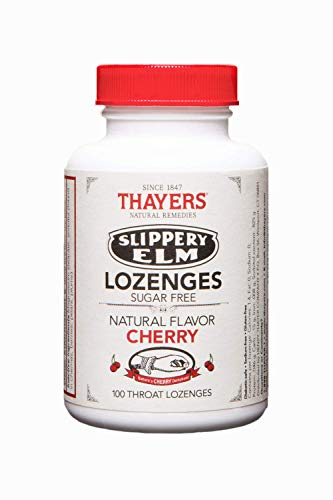 Thayers SugarFree Cherry Slippery Elm Lozenges 100 Count