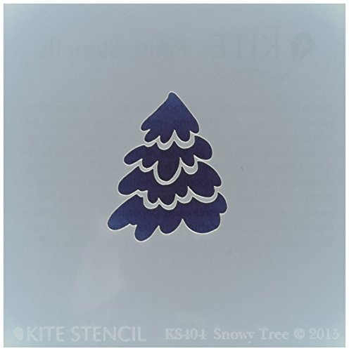 Judikins Judikins Kite Petite sjabloon 4 inch vierkant besneeuwde boom, acryl, meerkleurig