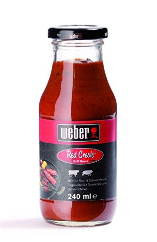 Weber Grill-Sauce Red Creole Flasche Inhalt = 240 ml