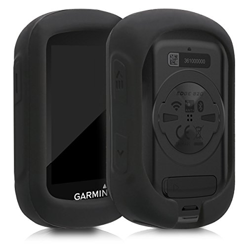kwmobile Case Compatible with Garmin Edge 130/130 Plus - Soft Silicone Bike GPS Navigation System Protective Cover - Black