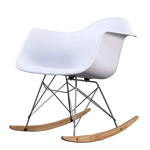 LLSS Mecedora AJH, Mecedora de plástico Simple Creativa, Silla de salón para el hogar, Dormitorio, balcón, Silla de salón