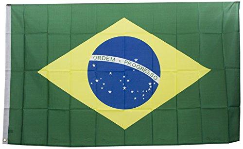 Fig Brasilien-Fahne, Mehrfarbig, 90 x 150 cm