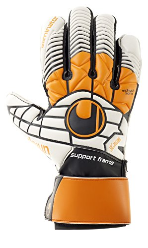 uhlsport Handschuhe ELIMINATOR SOFT SF, schwarz/Orange/Weiß, 11