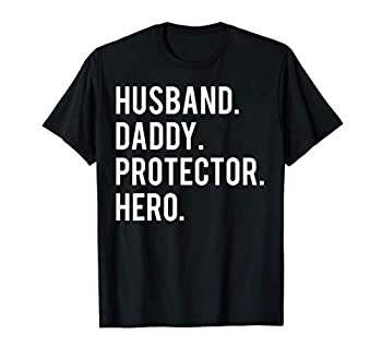Husband daddy protector hero T Shirt cool father dad tee T-Shirt