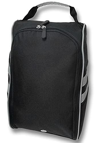 CaddyDaddy Golf Modern Golf Shoe Bag, Black/Grey