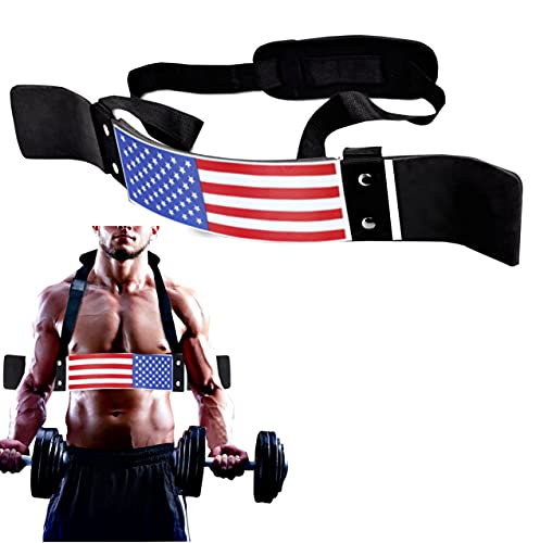 FIGHTSENSE Arm Blaster Biceps Curl Triceps Muscle Isolator Bomber Fitness Gym Workout Training Support (American)