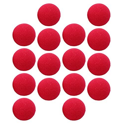 HEALLILY 50Pcs Rojo Payaso Narices Esponja de Halloween Navidad Traje de Fiesta Roja Esponja Narices para Cosplay Fiesta (Rojo)