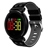 YGQNH Reloj Inteligente, Multifuncional K2 4.0 Pulsera Inteligente Reloj Inteligente Redondo Impermeable IP68 OLED De 0.95 Pulgadas para iOS para Teléfonos Android, Fácil De Usar(Color:Negro)