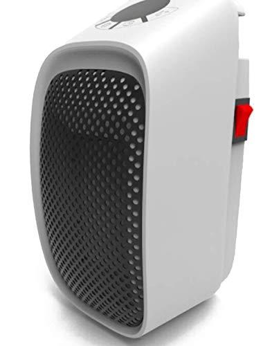 Ohmex OHM-HET-2002 – Calefactor portátil – 400 W – Con pantalla LED – Ajuste de temperatura 15 a 32 °C – Sin batería – Volumen de aire: 35 (bajo) / 45 (alto) – Temporizador 12 h