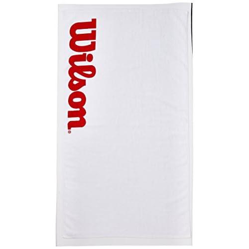 Wilson WRZ540, Asciugamano Sportivo Unisex-Adulto, Bianco/Rosso, 75 x 50 cm
