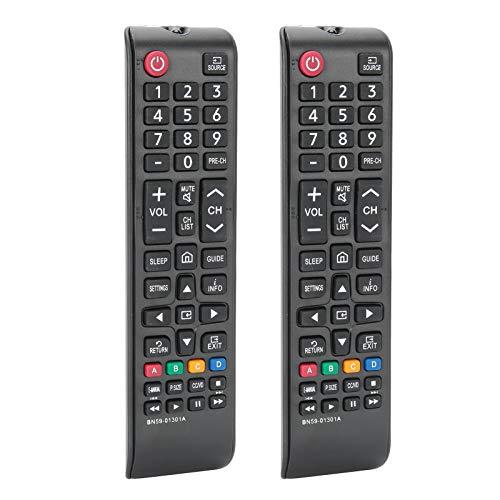 Control Remoto de TV Duradero de Material ABS de 2 Piezas sin configurar Acceso Completo Multifuncional para televisión TV