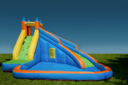 Tobogani – Water Park Paddling Pool with Inflatable Slide 12 m² (includes static blower)