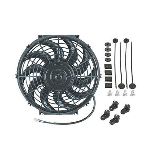 TAHMM Coche eléctrico radiador Ventilador 12V 80W Motor 1700 CFM Sistema de enfriamiento de Flujo de Aire Alto CFM Estilo de automóvil Automóvil Universal Fan de enfriamiento (Color : 12 Inch)