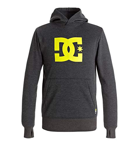 DC Apparel Jungen PO Youth Snowstar - Technical Riding Hoodie 8-16, Dark Shadow, 12/L