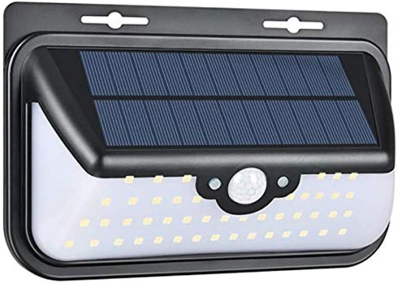 Solarleuchte Auen, 68 LED Solar Lampen Streetlights 180° Solar-Strahler mit drahtloser Fernbedienung und Sicherheit Bewegungssensor Sicherheitslicht für Garten, Garage, Einfahrt,1Stück