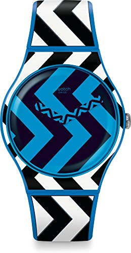 Swatch Unisex Adult Analogue Quartz Watch with Silicone Strap SUOS111