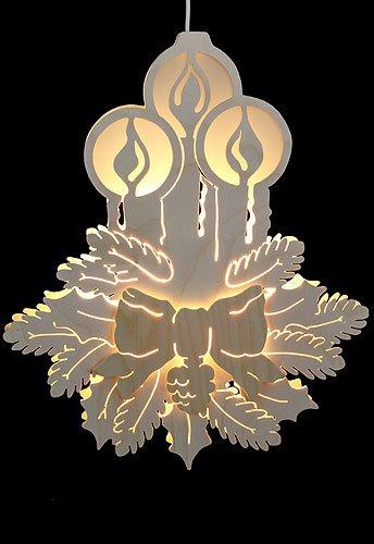 Unbekannt Lichterwelt Fensterbild - Drei Kerzen - Durchm. 30,5 cm - Michael Müller