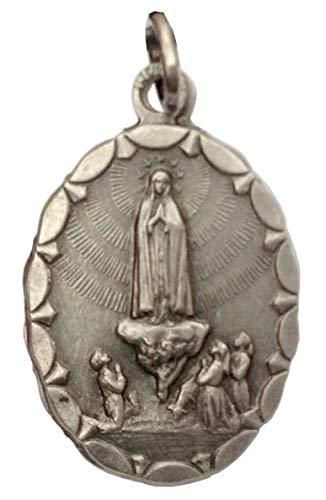 Medalla de Virgen de Fátima (Nuestra Señora de Fátima), forma ovalada, 100% hecha en Italia, Medallas de los Santos Patronos