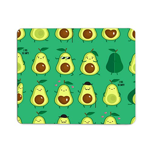 Gaming Mouse Pad Avocados,Different Cute Green Avocados Pattern Mousepad Rectangle Non-Slip Rubber Mouse Pads