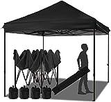 Best Instant Tents - Bumblr 10 ft Black Pop Up Canopy Folding Review