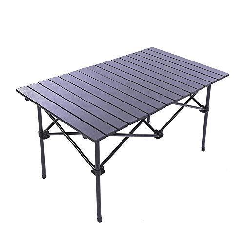 WPCBAA Aluminium Lange Kamp Tafel Roll-Top Lichtgewicht Draagbare Stabiel Veelzijdig 4-6 Personen Compact en Gemakkelijk Vervoer voor Camping Picknick Vakantie, Outdoor Vouwtafel outdoor klaptafel