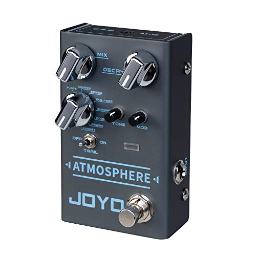 JOYO Atmosphere R-14 R Series Reverb Pedal Built-in 9 Digital Reverb Types, with Modulation Depth Control and Trail Function for Electric Guitar (R-14)