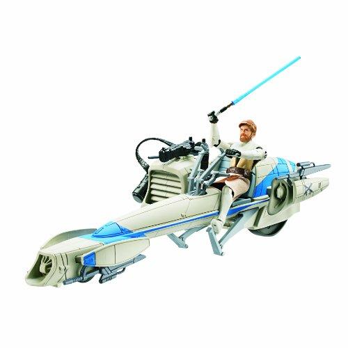Star Wars Deluxe Figure with Vehicle - Barc Speeder Bike with Obi Wan Kenobi