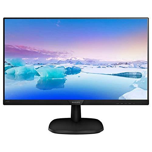Philips 243V7QDAB/00 60 cm (23,8 Zoll) Monitor (VGA, DVI, HDMI, 5ms Reaktionszeit, 1920 x 1080, 60 Hz, mit Lautsprecher) schwarz